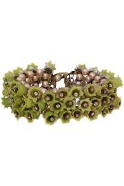 Michal Negrin Green Vintage Bells Bracelet