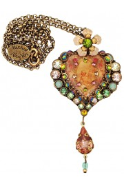 Michal Negrin Cherub Heart Pendant Necklace