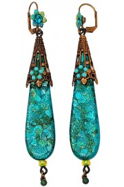 Michal Negrin Turquoise Green Retro Earrings