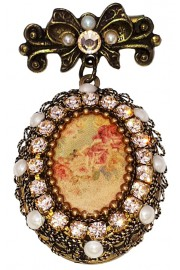 Michal Negrin Locket Brooch