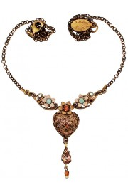 Michal Negrin Rose Cabochon Heart Necklace