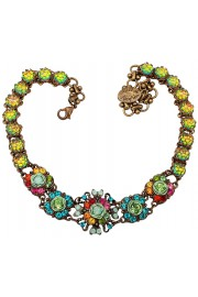 Michal Negrin Multicolor Crystals Choker Necklace