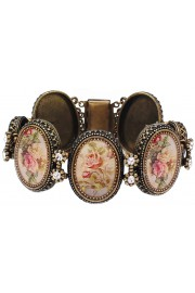 Michal Negrin Oval Roses Cameos Bracelet