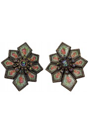 Michal Negrin Deco Clip Earrings