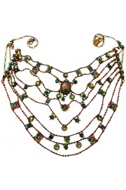 Michal Negrin Multicolor Web Necklace