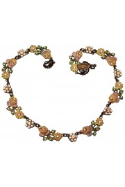 Michal Negrin Vintage Roses Strand Necklace