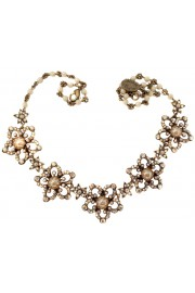 Michal Negrin Crystal Pearls Starflowers Necklace