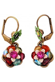 Michal Negrin Multicolor Beaded Flower Earrings