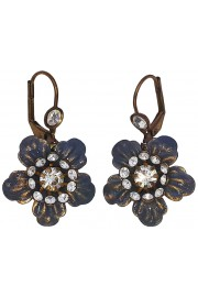 Michal Negrin Silver Anemone Earrings