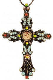Michal Negrin Vintage Cross Necklace