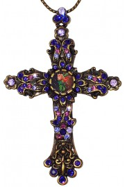 Michal Negrin Purple Cross Necklace