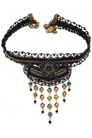 Michal Negrin Black Strand Choker Necklace