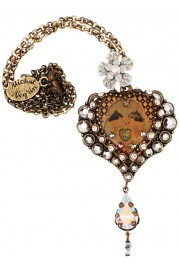 Michal Negrin Kiss Heart Pendant Necklace