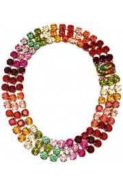 Michal Negrin Multicolor Swarovski Crystals Necklace