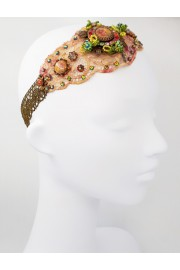 Michal Negrin Multicolor Dyed Lace One of a Kind Headband