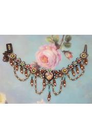 Michal Negrin Vintage Cherub Heart Bracelet