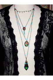 Michal Negrin Multiple Chains Pendants Necklace