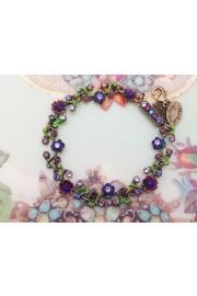 Michal Negrin Delicate Purple Floral Bracelet