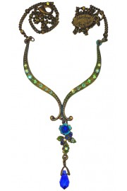 Michal Negrin Blue Drop Pendant Necklace