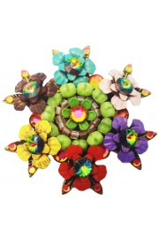 Michal Negrin Multicolor Flowers Retro Brooch