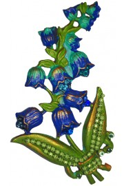 Michal Negrin Blue Hyacinth Brooch