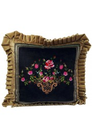 Michal Negrin Velvet Roses Cushion Cover