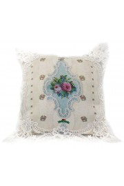 Michal Negrin Vintage Roses Lace Cushion Cover