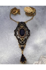 Michal Negrin Black Crystals Pendant  Necklace