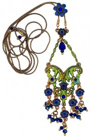 Michal Negrin Blue Bloomsbury Necklace
