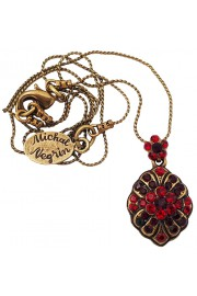 Michal Negrin Red Mosaic Pendant Necklace