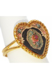 Michal Negrin Glittering Heart Ring