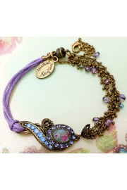 Michal Negrin Purple Cord Cameo Bracelet