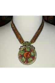 Michal Negrin Antique Medallion Necklace