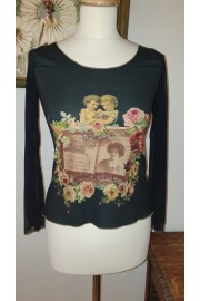 Michal Negrin Long Sleeves Victorian Pattern Shirt