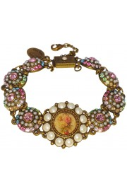 Michal Negrin Pastel Pearl Rose Cameo Bracelet