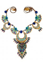 Michal Negrin Blue Vitrage Inspired Necklace