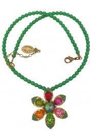 Michal Negrin Multicolor Daisy Beaded Necklace