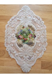 Michal Negrin Velvet Lace Multicolor Roses Doily