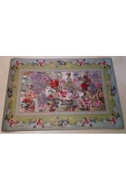 Michal Negrin Multicolor Roses PVC Carpet Rug