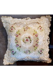 Michal Negrin Velvet Lace Roses Cushion Cover