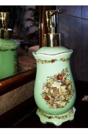 Michal Negrin Green Porcelain Liquid Soap Dispenser Dish