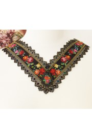 Michal Negrin Black Multicolor Roses V Necklace