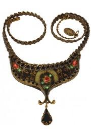 Michal Negrin Black Velvet Rose Necklace