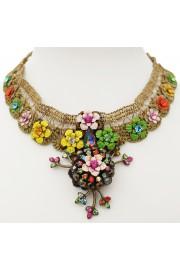 Michal Negrin Multicolor Blaze Choker Necklace