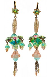 Michal Negrin Pastel Chandelier Earrings
