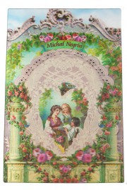 Michal Negrin Victorian Family Lenticular Postcard