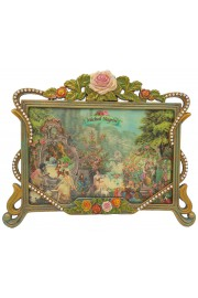 Michal Negrin Floral Crystal Picture Frame