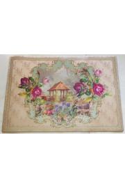 Michal Negrin Victorian Floral PVC Carpet Rug