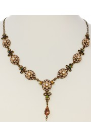 Michal Negrin Pearl Peach Oval Elements Necklace