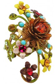 Michal Negrin Multicolor Floral Ring